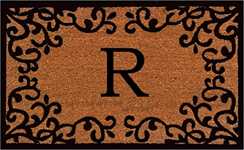Calloway Mills 180022436R Chateaux Monogram Doormat, 24 x 36 Letter R