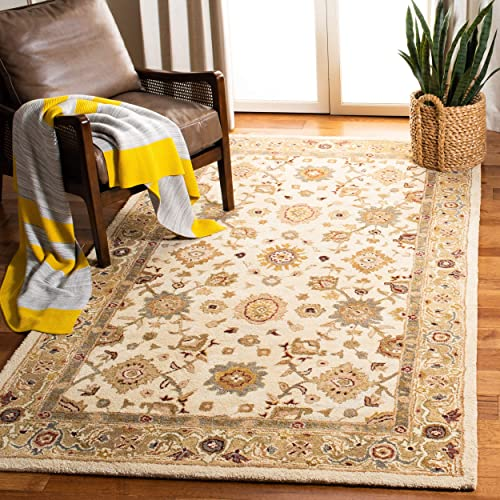 Safavieh Anatolia Collection Handmade Traditional Oriental Ivory and Gold Wool Area Rug 9' x 12'