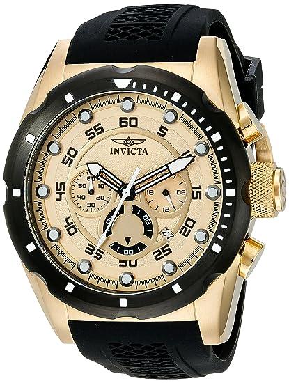 Reloj para hombre de acero inoxidable bañado en iones Invicta 20306 Speedway en oro de 18 K: Amazon.es: Relojes