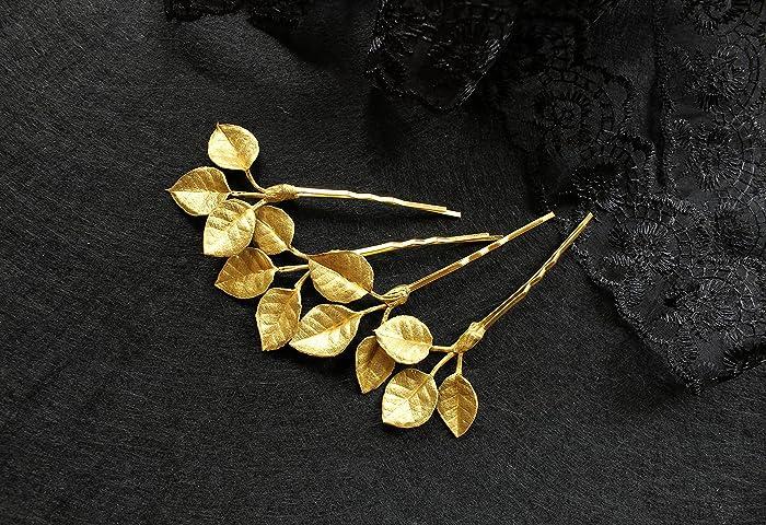 Amazon.com: Gold hair accessories Golden