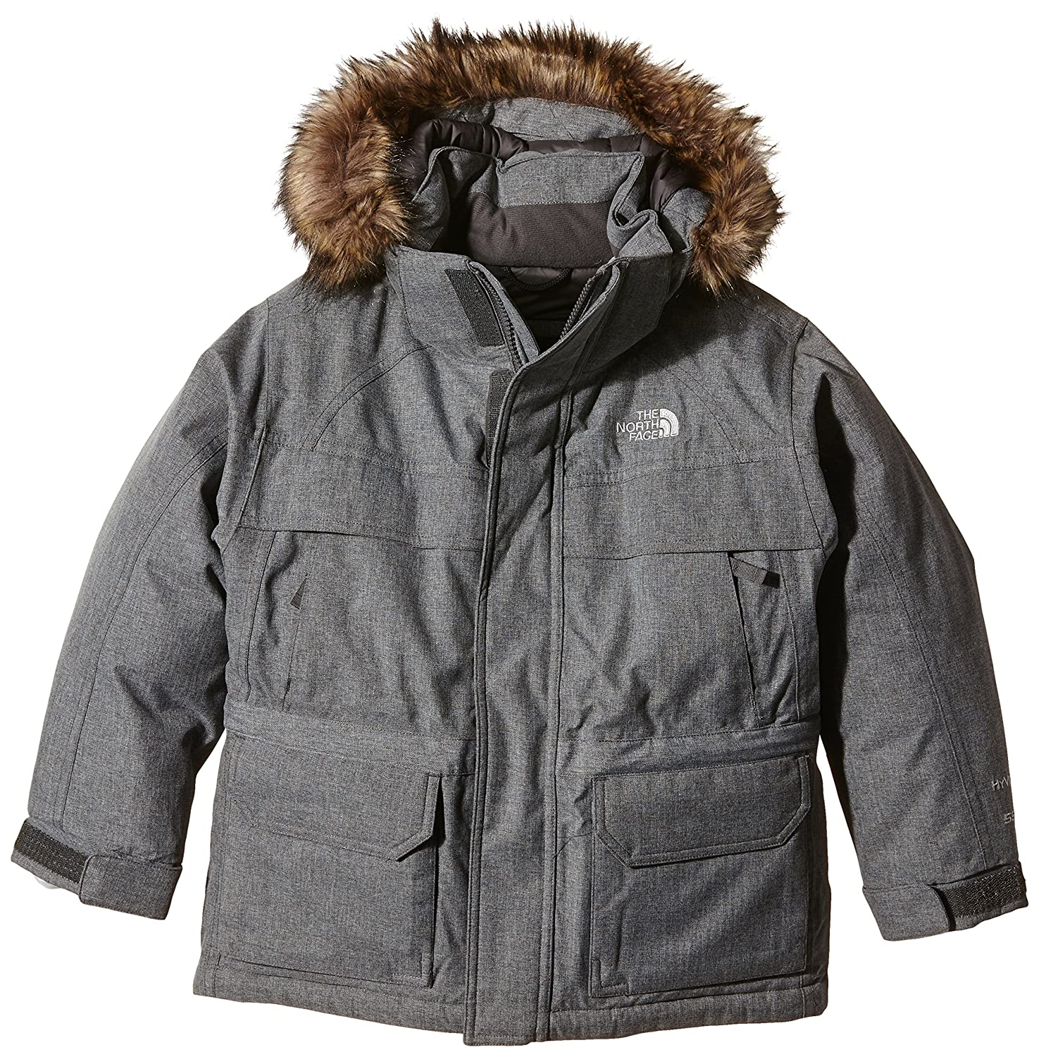 f5536354628c Amazon.com  The North Face Kids Boy s McMurdo Down Parka (Little Kids Big  Kids) Charcoal Grey Heather XL (18-20 Big Kids)  Clothing