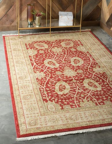 Unique Loom Edinburgh Collection Oriental Traditional French Country Red Area Rug 12 2 x 16 0