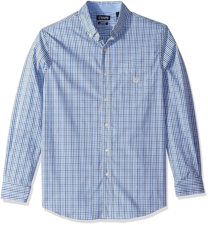 20560c41 Chaps Mens Plaid Ec Stretch Long Sleeve Sport Shirt Button Down Shirt:  Amazon.ca: Clothing & Accessories