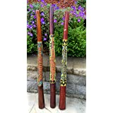 Jive Didgeridoo Instrument Hand Painted Solid Teak Wood Aboriginal Design Percussion Musical Instrument Professional Sound XL