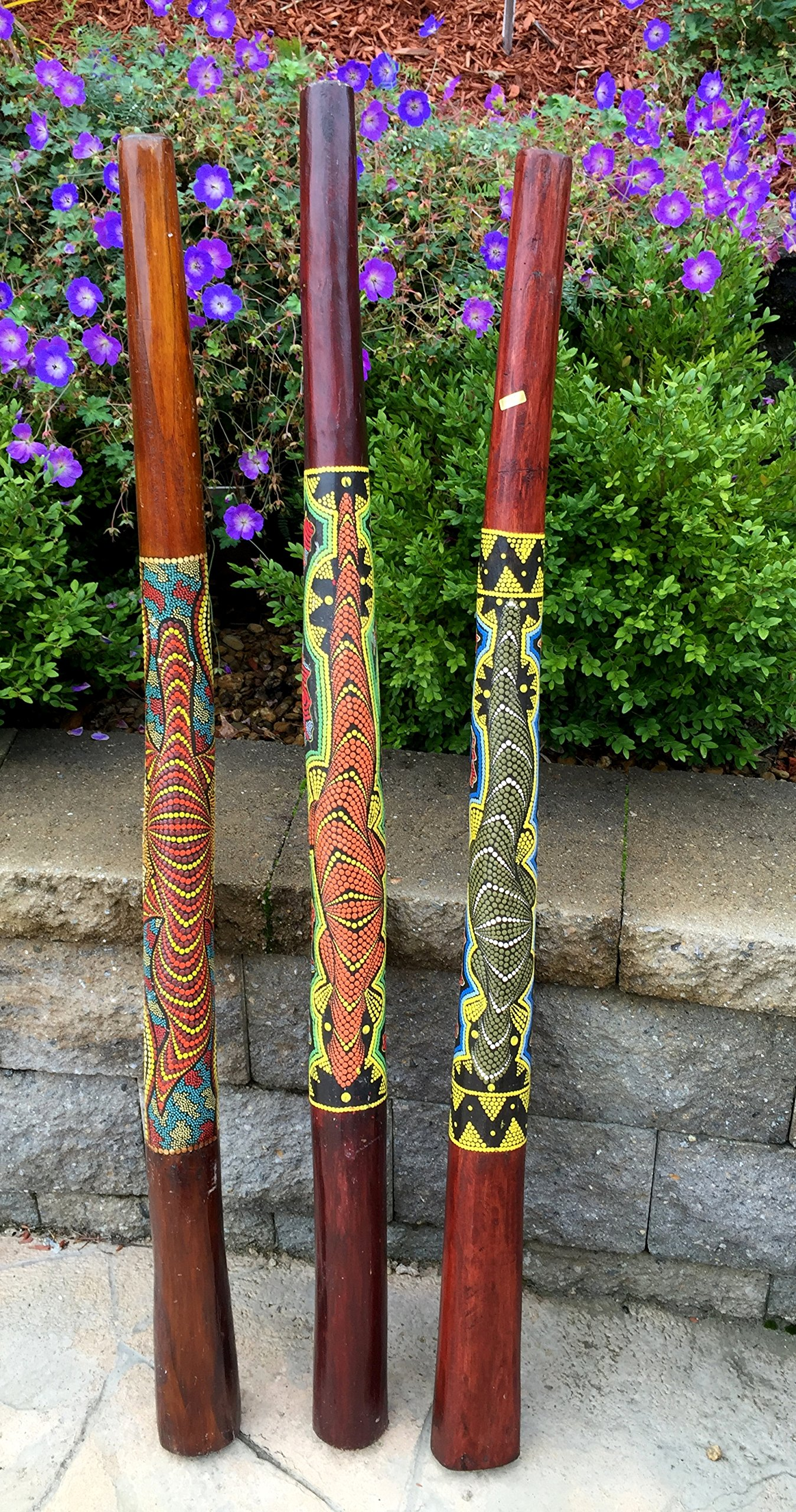 Didgeridoo Hand Painted Teak Wood- Professional Sound, XLARGE SIZE - 52'', JIVE BRAND