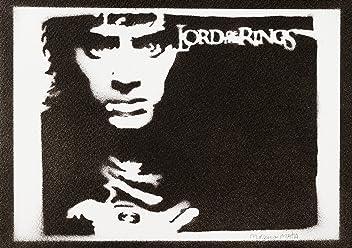 Frodo Baggings The Lord Of The Rings Handmade Street Art - Artwork - Poster