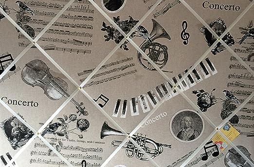 90 x 60 cm Extra grande de notas musicales guitarra Piano de ...