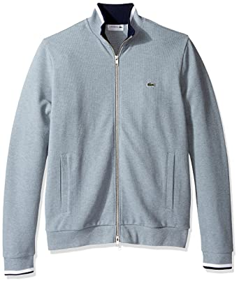 b4a52af055b3a5 Lacoste Men s Full Zip Pique Fleece Sweatshirt