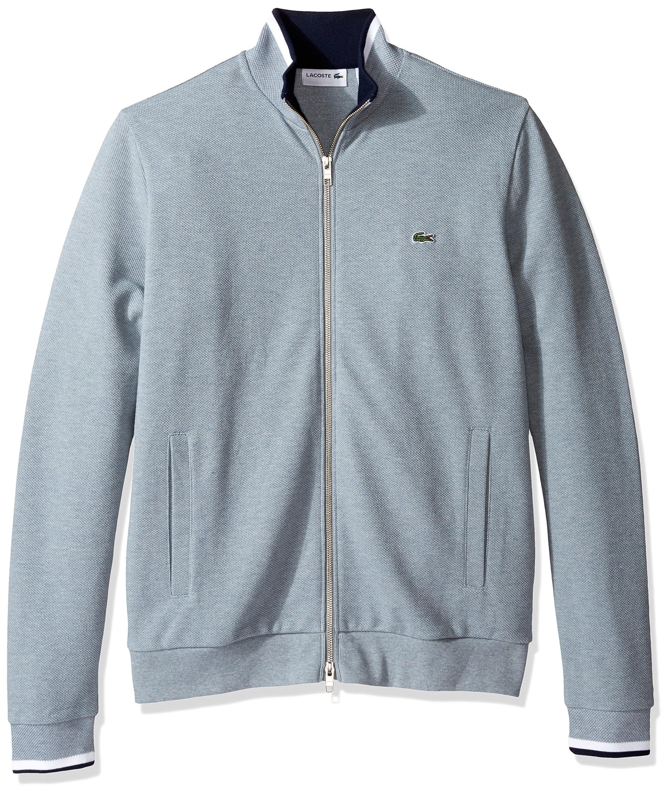 Lacoste Men's Full Zip Pique Fleece