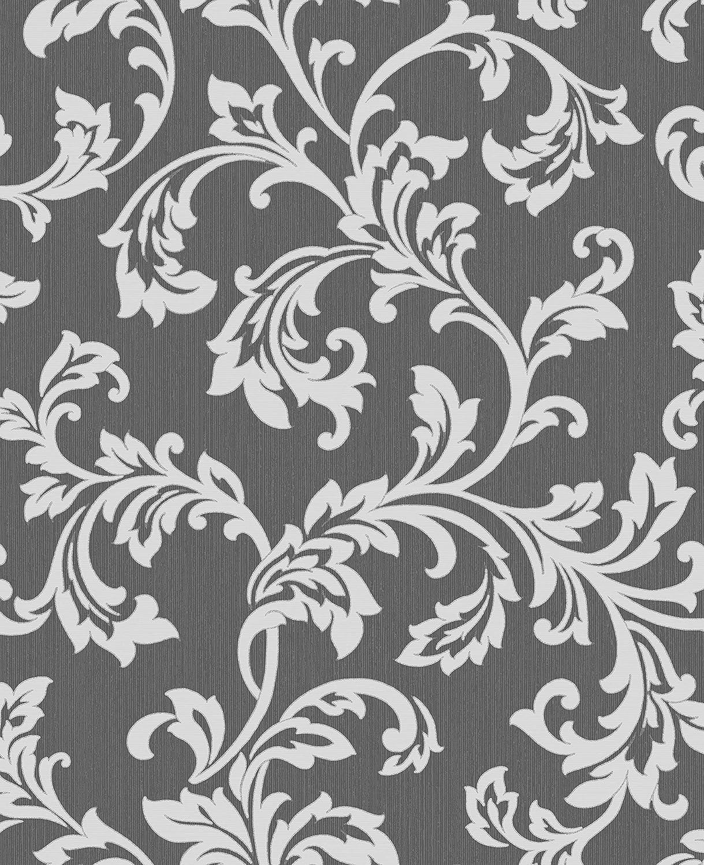 Cavendish Floral Wallpaper Black Silver Fine Decor Amazon Com