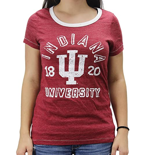 Tailgate Clothing Company College Vault Junior Women  s NCAA Indiana  Hoosiers T-Shirt at Amazon Women s Clothing store  8923fcee01