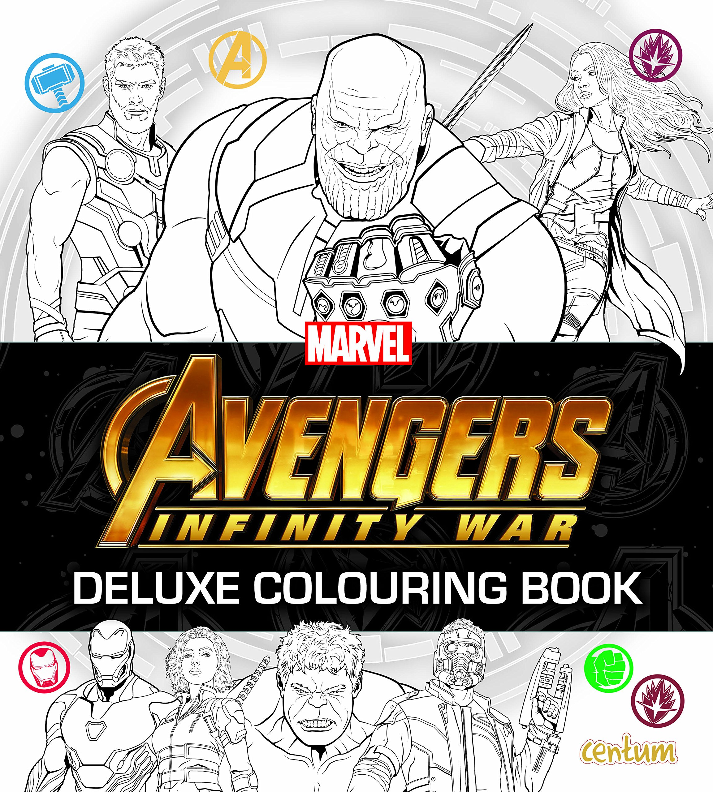 Avengers infinity war deluxe colouring book paperback import 30 mar 2018