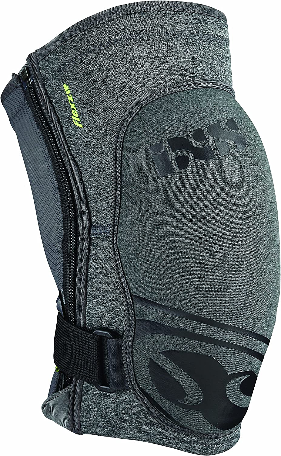 IXS Unisex Flow Zip Breathable Moisture-Wicking Padded Protective Knee Guard (482-510-6617-009)