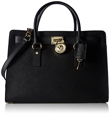 93e555909c735 Amazon.com  Michael Kors Hamilton Large Saffiano Leather Satchel ...