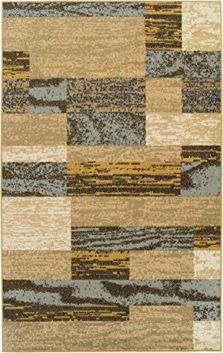 SUPERIOR Modern Rockwood Collection Area Rug