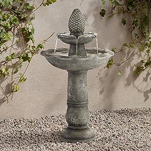 John Timberland Pineapple Garden Italian Outdoor Floor Water Fountain 35