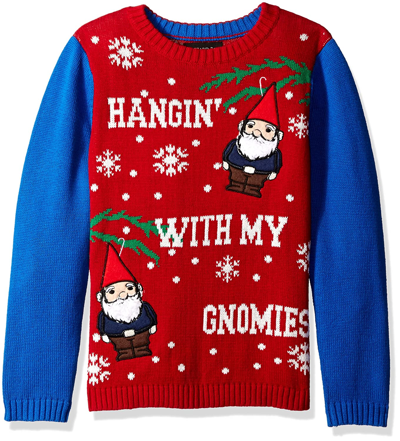 Amazon.com: Blizzard Bay Boys\' Hanging with My Gnomies Xmas Sweater ...