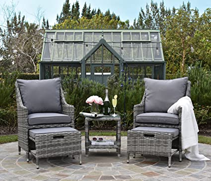 ELLE Décor Vallauris Outdoor 5-Piece Set - Gray Wicker
