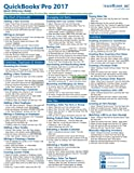 QuickBooks Pro 2017 Quick Reference Training Card - Laminated Tutorial Guide Cheat Sheet (Instructions and Tips)