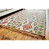Tapis Kilim oriental 200x 135cm, tapis Kelim/tapis de sol, tapisserie murale, tapis chemin de sol, tapis de zone, S 1-4-46 par Damaskunst