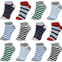 LOREZA ® 12 Pares Calcetines Cortos para Niños y Niña Algodón 21 a la 36
