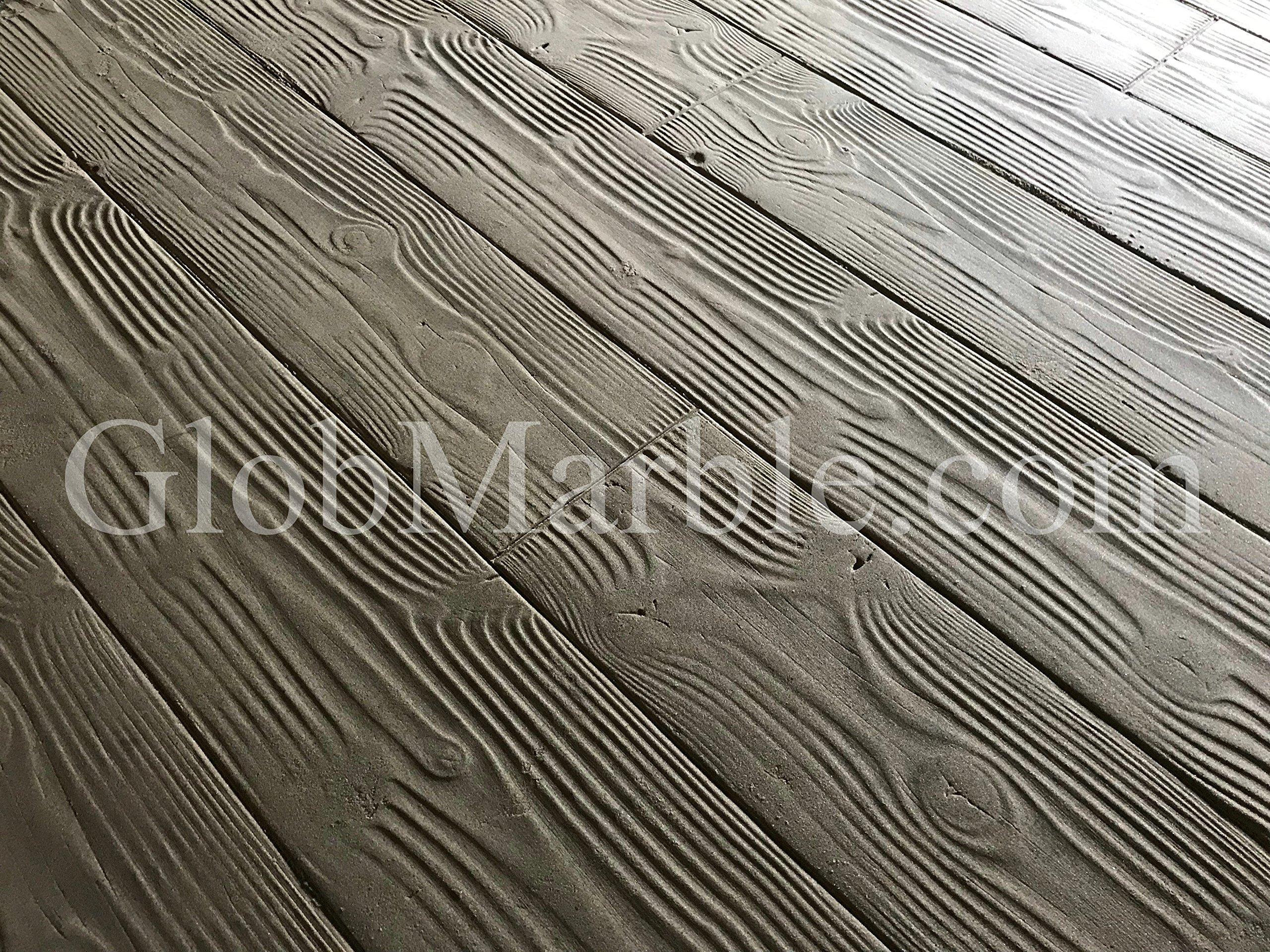 GlobMarble 9'' Wood Plank Concrete Stamp Set 10 Pieces. Wood Texture Stamp Mat SM 5000 S.