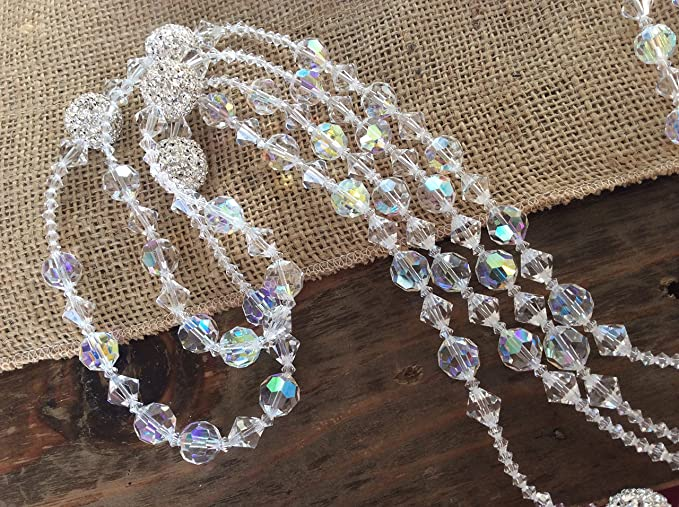 Amazon.com : Crystal Wedding Lasso Authentic Swarovski Crystal Ab Finsh 12 Round Cut, Lazo Para Boda, Wedding Rosary, Laso, Mancuerna : Everything Else