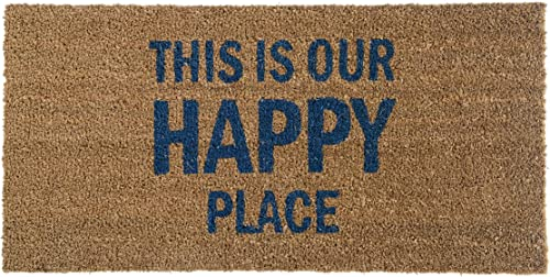 Bloomingville Happy Place Coir Doormat, Brown