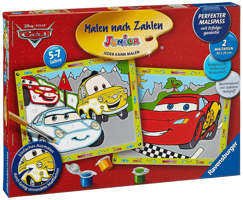 Ravensburger 27748 - Disney Cars - Malen nach Zahlen Junior, 30x24 ...