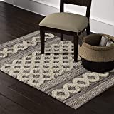 Amazon Brand – Stone & Beam Modern Textured Subtle Bohemian Area Rug, 4 x 6 Foot, Grey and White Multicolor