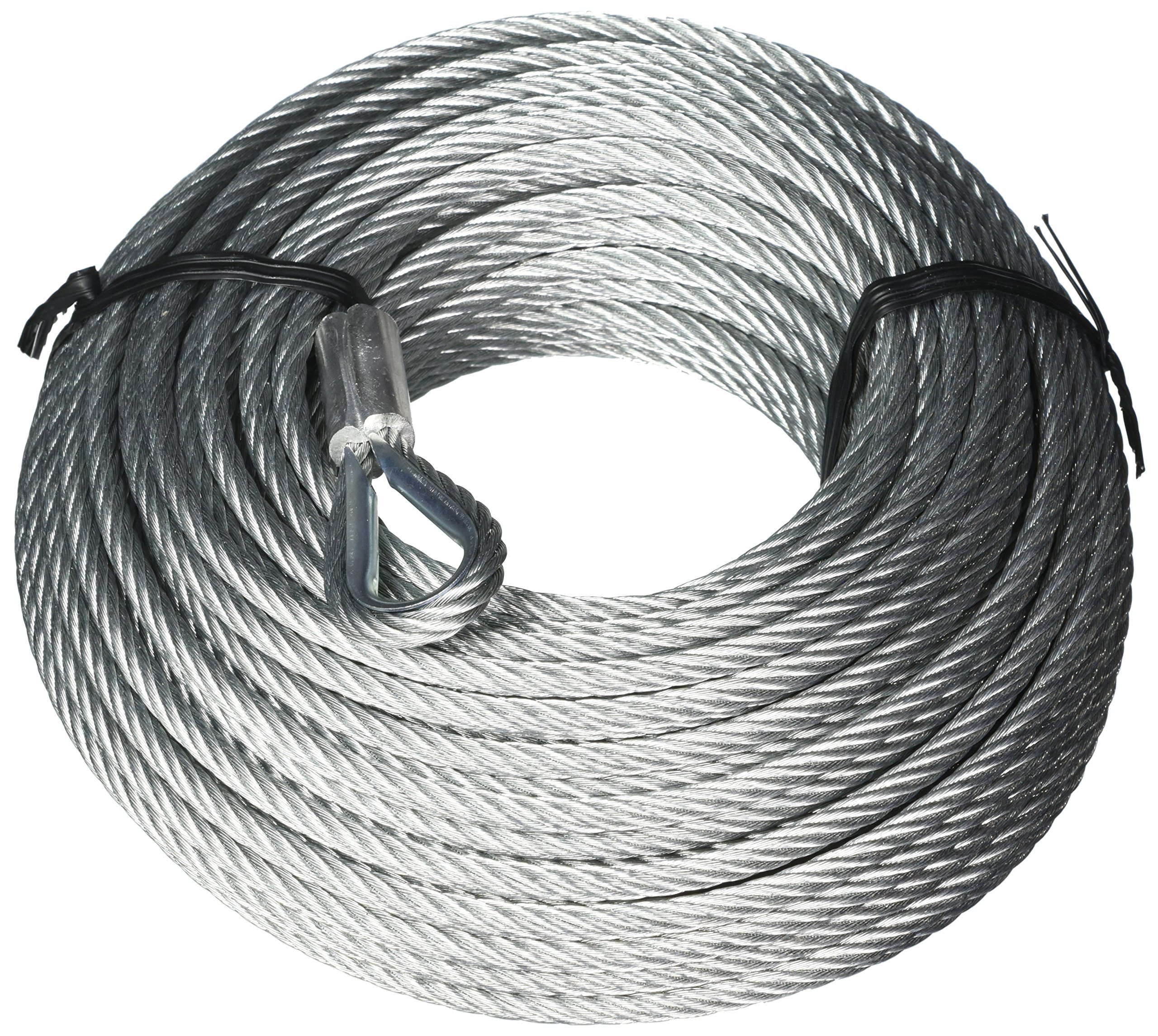 Tie Down 50095 Galvanized Cable (Swagged Loop and Thimble, 1/4 Inch, 100 Foot Roll)