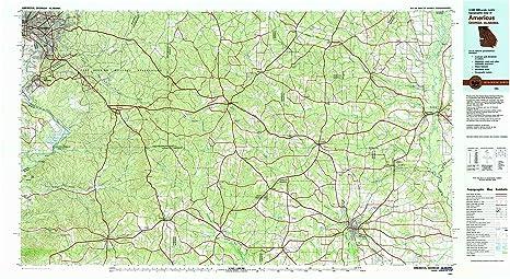 Amazon Com Yellowmaps Americus Ga Topo Map 1 100000 Scale