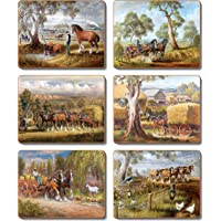 Cinnamon CMP382 Working Horses Placemats