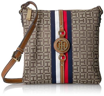 a51cdeaf47c Tommy Hilfiger Crossbody Bag for Women Jaden, Tan Dark Chocolate ...