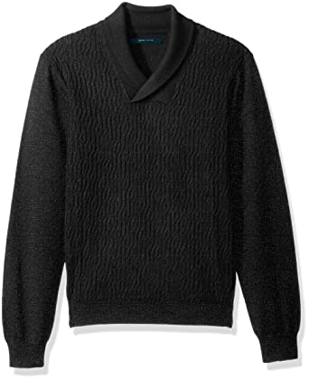 Perry Ellis Men s Cable Shawl Pullover Sweater at Amazon Men s Clothing  store  bac85d7aa