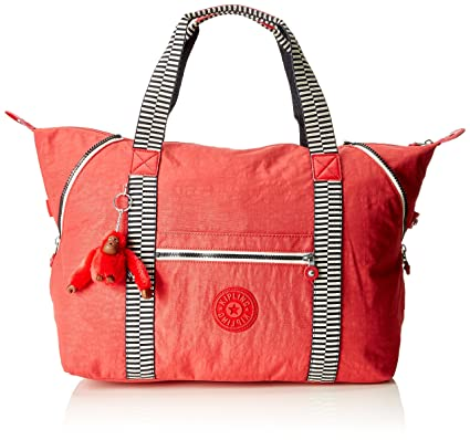 Kipling ART M Bolsa de tela y playa, 58 cm, 26 liters, Rojo (Spicy Red Mix)