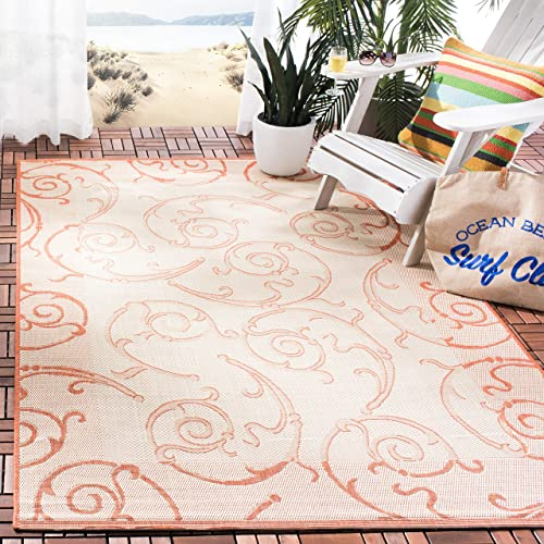 Safavieh Courtyard Collection CY2665-3201 Natural and Terra Indoor Outdoor Area Rug 9 x 12