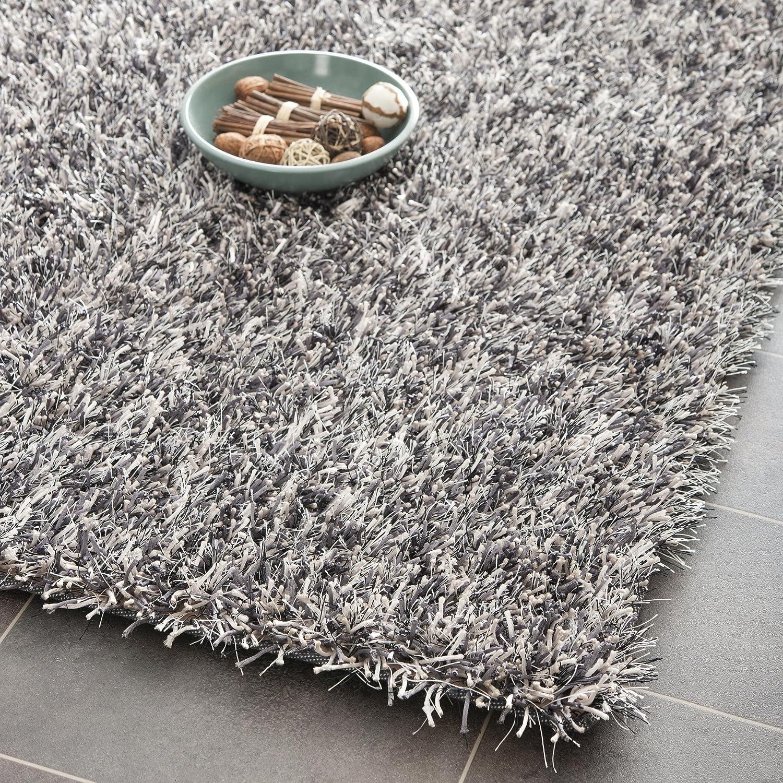 amazoncom safavieh new orleans shag collection sg5317612 platinum and ivory polyester area rug 8u0027 x 10u0027