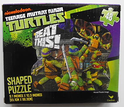 Teenage Mutant Ninja Turtles TMNT 48 Piece Nickelodeon Shaped Puzzle ~ Beat This