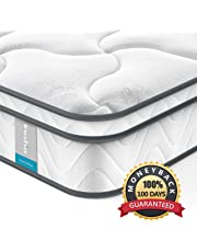 Twin Mattress Inofia 8 Inch Spring Mattress Compressed in a Small Box,7-Zone Pocketed Coil Innerspring,Medium Firm