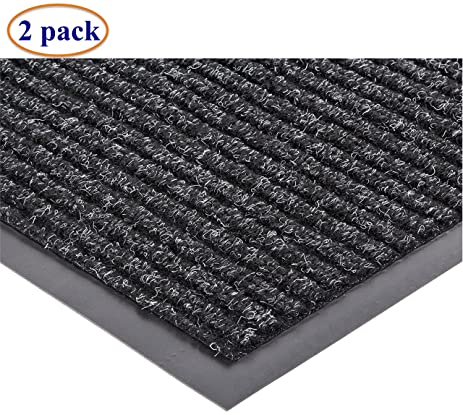 Charmant 2 Pack Of Heavy Duty Front Door Mat Large Outdoor Indoor Entrance Doormat  Waterproof Low Profile