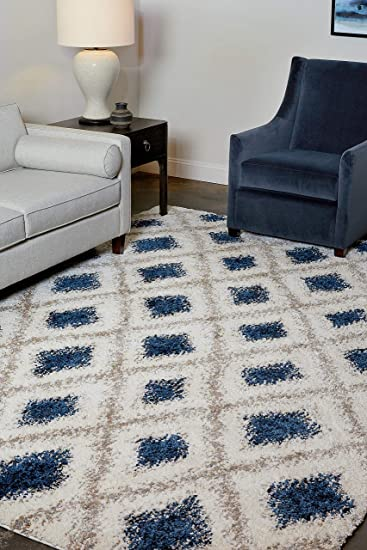 Amazon Com Park View By Bassett Copeland Rug 5 3 X 7 6 Soft White Furniture Decor