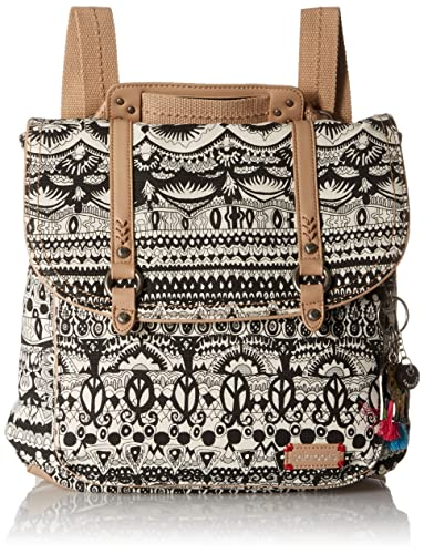 Sakroots Women's Artist Circle Convertible Backpack, Black/White One World
