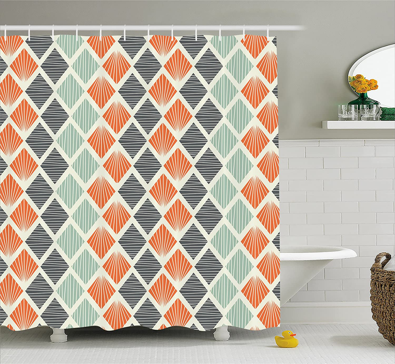 Amazoncom Geometric Decor Shower Curtain By Ambesonne Pop Art