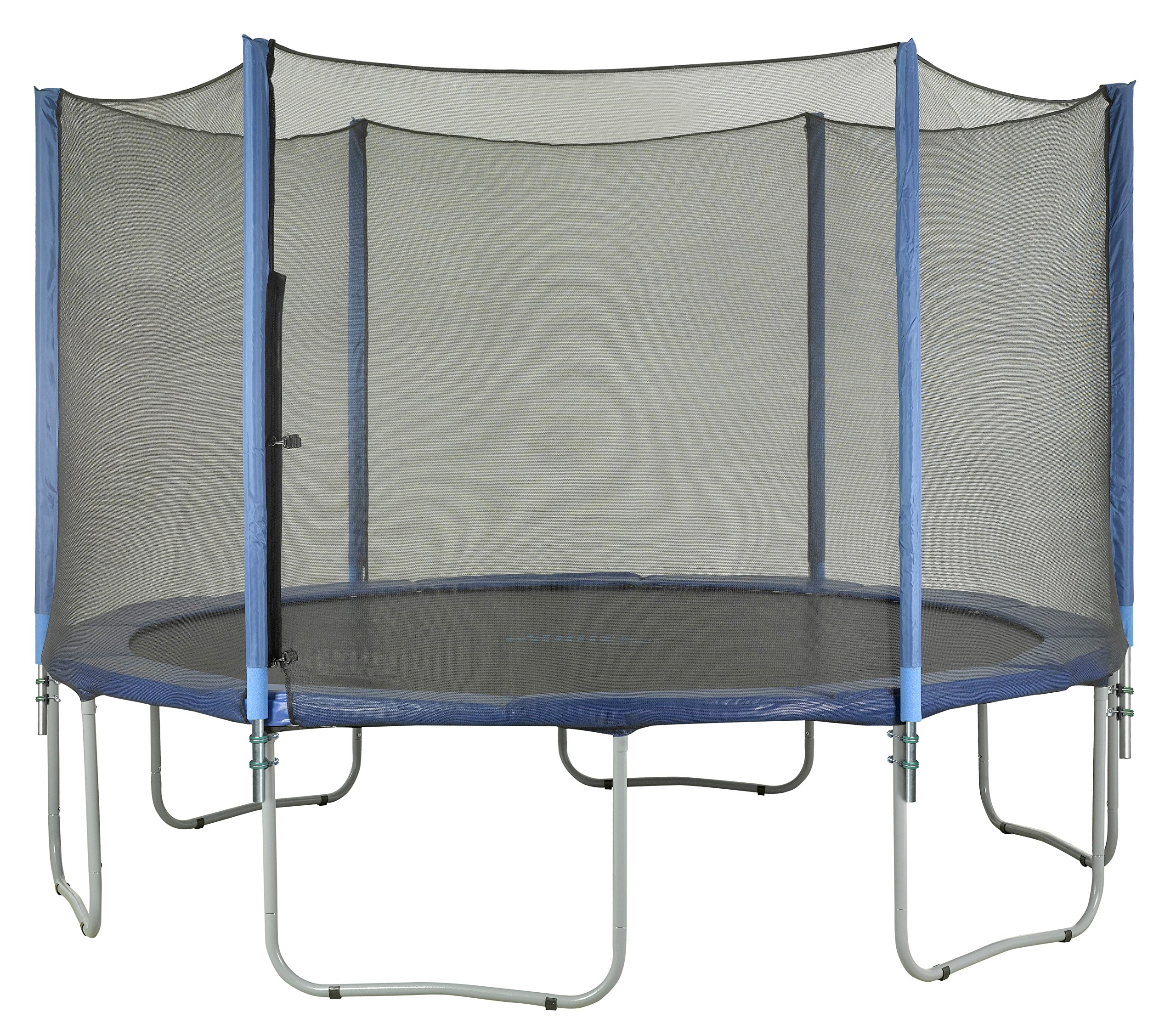 Trampoline Enclosure Set, to fit 15 FT. Round Frames, for 3 or 6 W-Shaped Legs -Set Includes: Net, Poles & Hardware Only by Upper Bounce (Image #5)