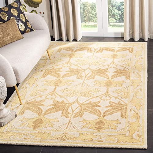 Safavieh Anatolia Collection AN541B Handmade Traditional Oriental Beige and Gold Wool Area Rug 4 x 6