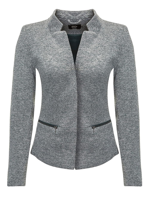 ONLY Damen Sweat Blazer Anzugjacke Leichte Jacke Businessjacke 15157723/Light Grey Melange