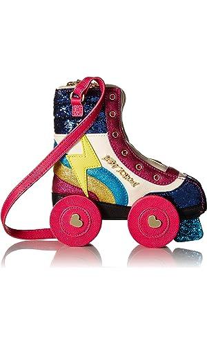 Betsey Johnson Kitsch Rollergirl Crossbody Bag, Fuchsia
