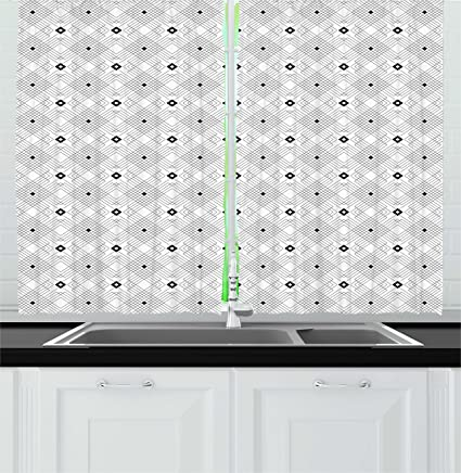 Black White Kitchen Curtains 2