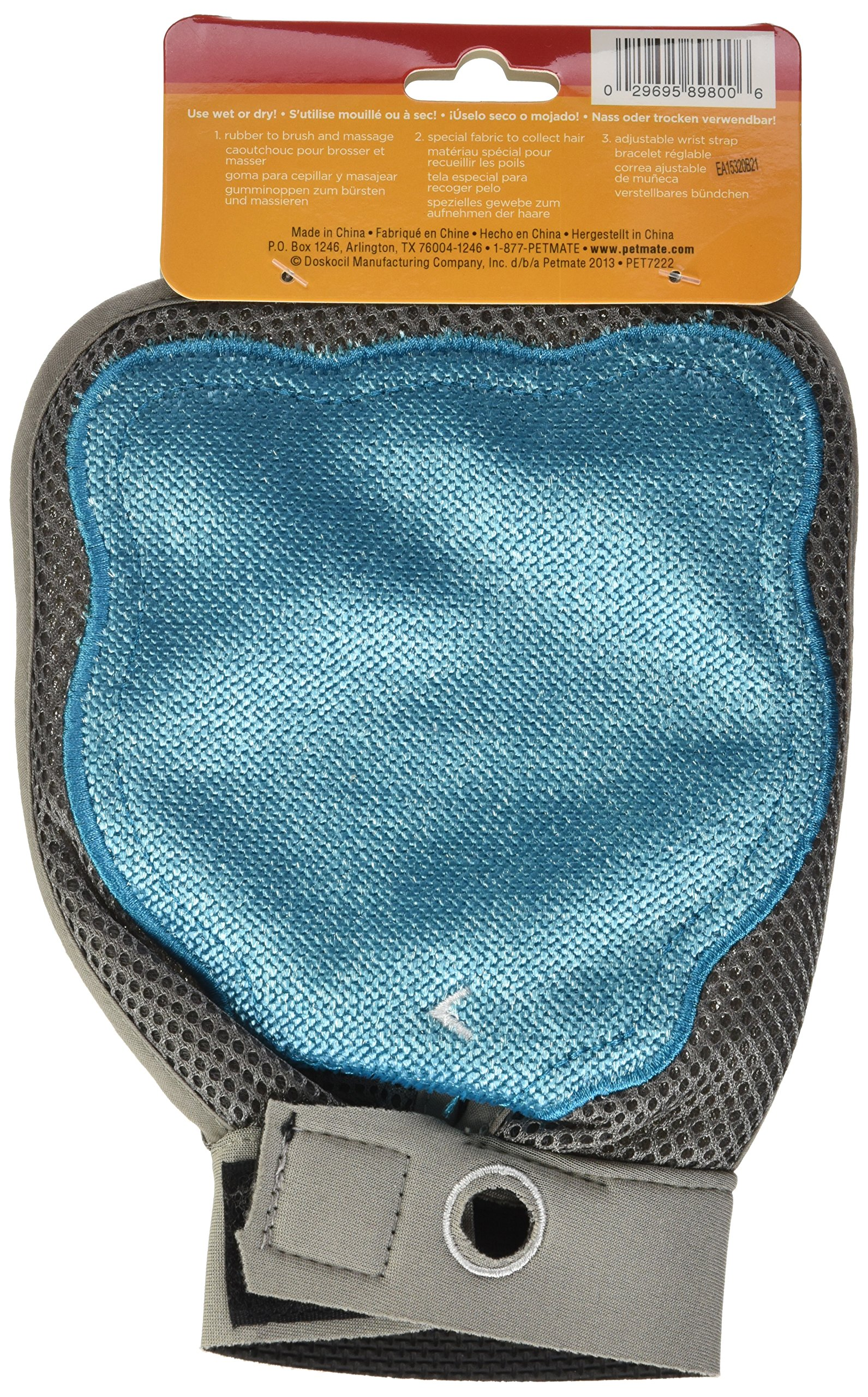 Petmate 89800 Furbuster 3-in-1 Cat Grooming Glove, Teal